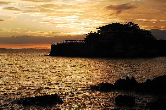 Island Resort at Sunset-2 by Jun Camus