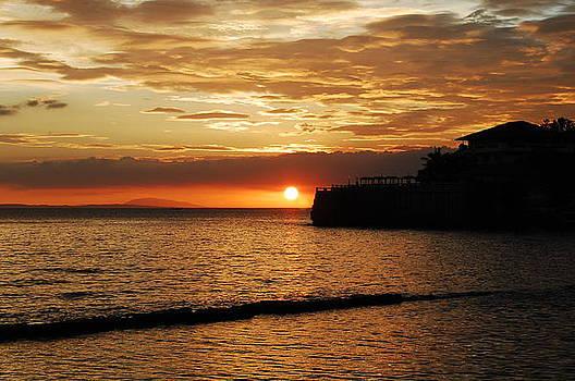 Island Resort at Sunset-3 by Jun Camus