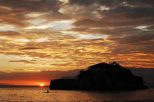 Island Resort at Sunset-4 by Jun Camus