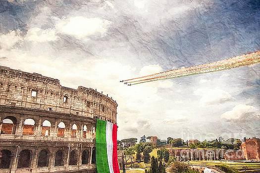 Italian flag in Rome by Stefano Senise