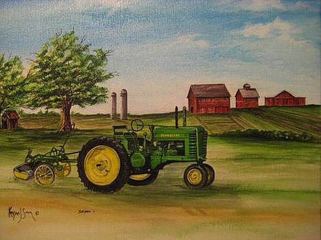 John Deere with Plow by Kendra Sorum
