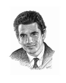 John F Kennedy Jr by Lou Ortiz