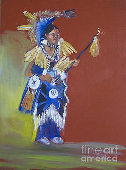 Kayl Rainer young pow wow dancer by George Chacon