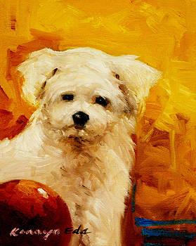 Kelly - dog puppy art by Kanayo Ede
