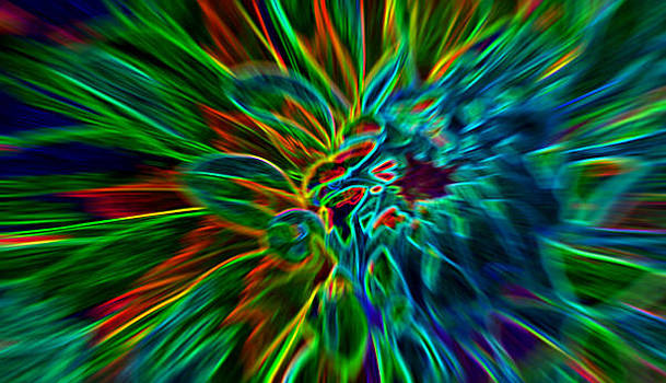 Kinetic Neon Abstract by James Hammen