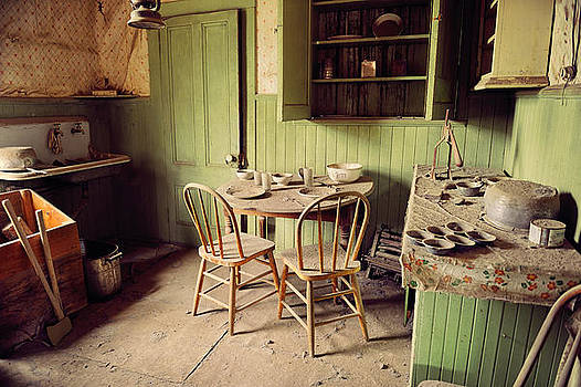 Kitchen Interior Of Abandoned Minning Shack In Bodie California by Kriss Russell