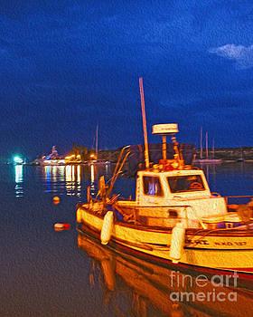 Kos fisherman boat by Nur Roy