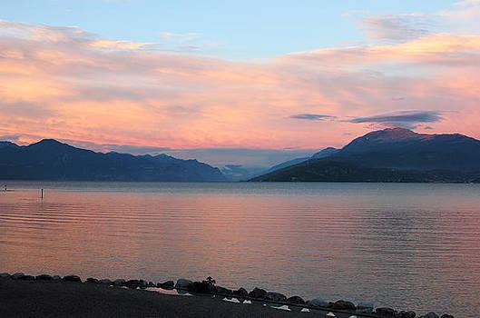 Lake Garda Panoramic Sunset View by Kiril Stanchev