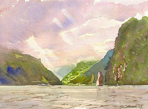 Lake of Uri with Schiller Stone by David Gilmore