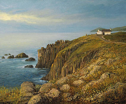Land's End in Cornwall by Kiril Stanchev