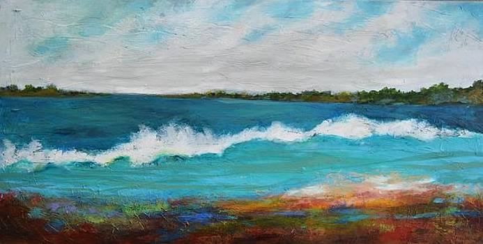 Large Original Painting SURF 5 by Karen Fields