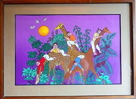 Las Jirafas by Miguel Garcia Ceballos