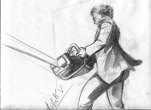 Leatherface Memory Drawing by Abhishek Vishwakarma