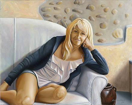 Leticia in Cortona by Kirk Graham
