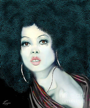 Light Blue Diana Ross-2a by Reggie Duffie