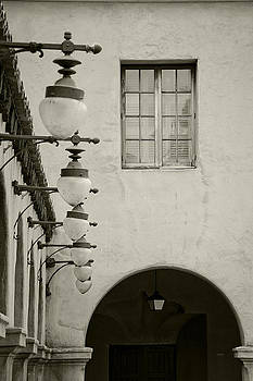 Lights and Window BW by James Blackwell JR