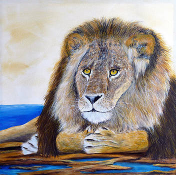 Lion...Waiting... by Jean Dore