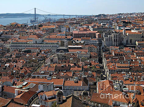 Lisbon Panoramic View by Kiril Stanchev