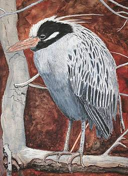 Lonely Night Heron SOLD by Mary Ann Leake