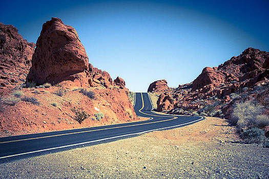 Lonely Southwestern Road by Laura Palmer