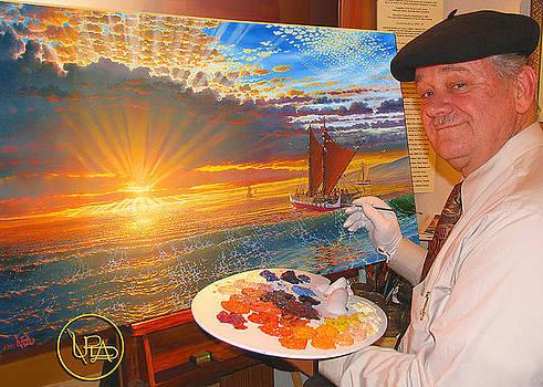 Loren Adams painting on the Mo'okiha O Pi'ilani by Loren Adams