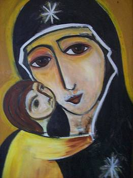 Madonna and child 2 by Michael C Doyle
