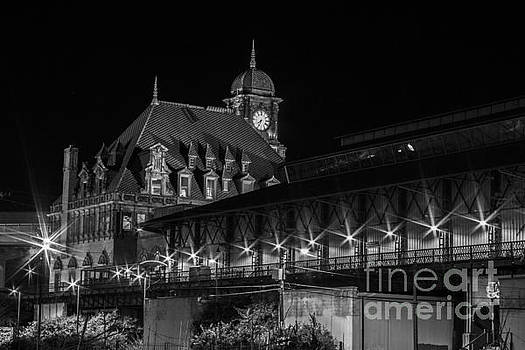 Main Street Station in Black and White by Debra K Roberts