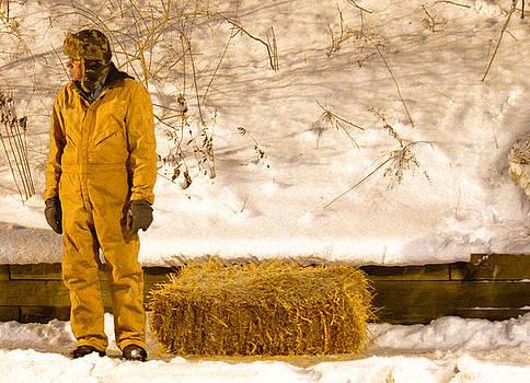 Man and Hay by Jeffrey Platt