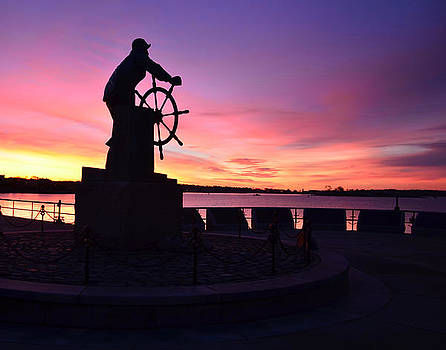 Man at the Wheel Sunrise by Dave Saltonstall