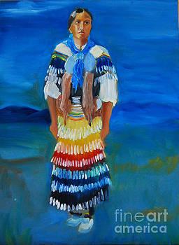 Mariah Rainer pow wow dancer by George Chacon