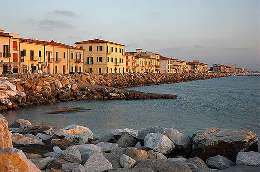 Marina di Pisa sunset view of the town by Kiril Stanchev