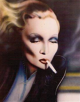 Marlene Dietrich #1 by Mireille  Poulin