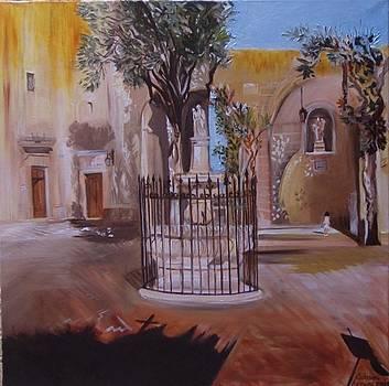 Mellieha  Chapel  Courtyard by Catrina louise  Attard