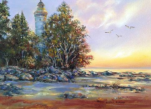 Michigan Lake Lighthouse by Holly LaDue Ulrich