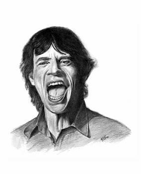 Mick Jagger by Lou Ortiz