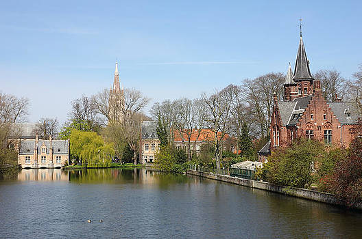 Minnewater in Bruges Belguim by Kiril Stanchev