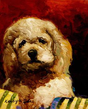 Molly - dog puppy art by Kanayo Ede