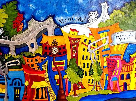 Montreal Promenade Ontario by Chantal Lariviere
