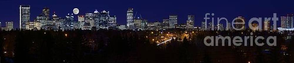Moon Over Calgary by Edward Kovalsky