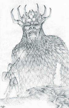 Morgoth and Fingolfin by Curtiss Shaffer