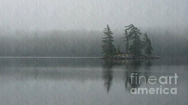 Morning Mist on Maggie Lake by Chris Sotiriadis