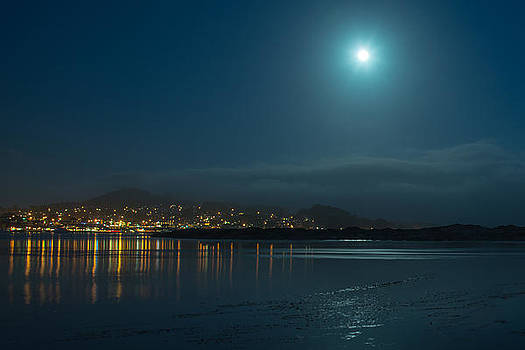 Morro Bay at Night by Terry Garvin