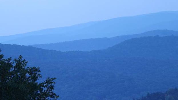Mountains Blue by Michael Sokalski