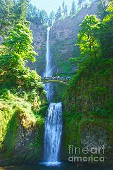 Multnomah Falls by Nur Roy