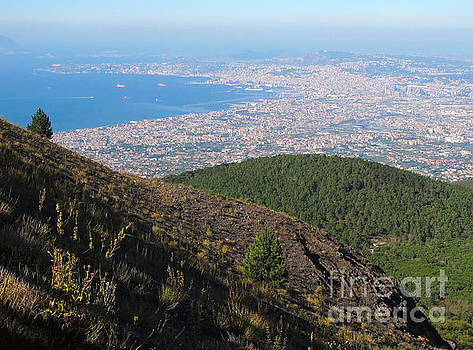 Naples Bay View from Mount Vesuvius by Kiril Stanchev