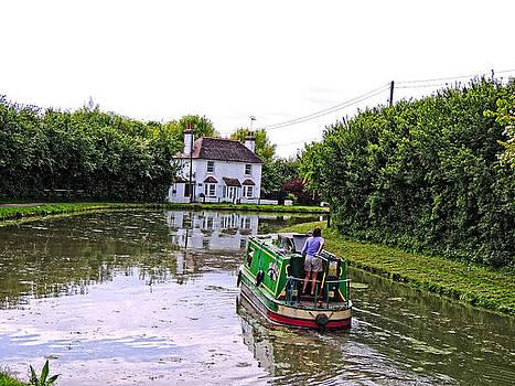 Narrow Boat Near Lock 42 by Marilyn Holkham