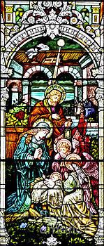 Nativity Stained Glass Window by Pattie Calfy