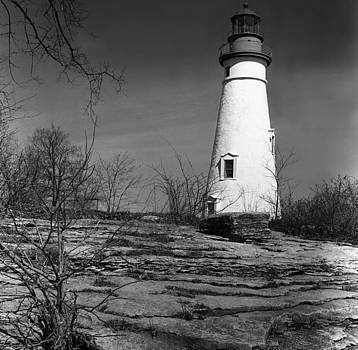 New England Lighthouse by Henri Bersoux