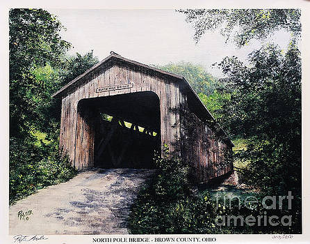 North Pole Covered Bridge Brown County Ohio by Rita Miller
