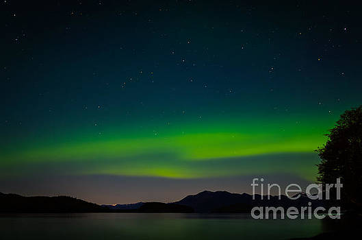 Northern Lights over Clover Pass by John MilitaryFire